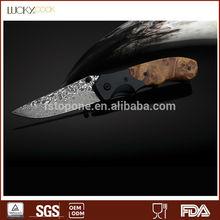 Damascus Steel Pocket Jaguar knife