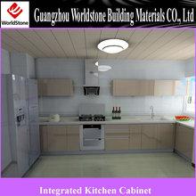 Luxury Modular Kitchen Cabinet / Lacquer wooden kitchen furniture