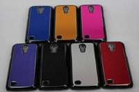 New plastic pc bumper plating Wire drawing hard case cover for Samsung Galaxy S4 Mini I9190