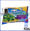 delicate fresh vegetables packaging plastic bag