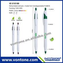 promotional Retractable ball pen eco friendly ball pen