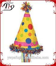 polka dot party hat paper pinata