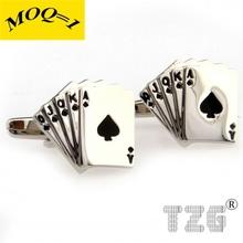 Fashion Stainless Steel Poker Cufflink