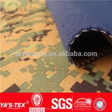 90% polyester 8% spandex printed fabric bonded 100% polyester polar fleece TPU membrane inside military print design fabric