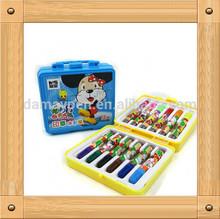 12 colors felt pen with box for children