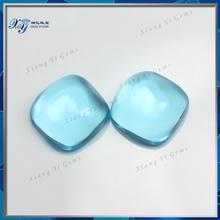 Clear Aquamarine Cabochon Stones China Supplier.Luminous AAAA Flat Back Aquamarine Glass Gem Beads Price