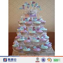 2014 HOT!!!! Beautiful design factory price cake stand acrylic