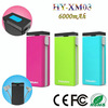 2014 super awesome!!external power pack for mobile phone/battery pack charger/outdoor USB Power Bank6000mAh