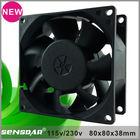 hot 80mm ac smoke exhaust fan axial flow ventilation fan
