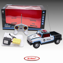 Kids Wholesale Toys 1 16 Scale 4 Channel RC Car Police with Light R18667
