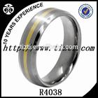 Titanium Ring Gold Inlay Titanium Wedding Ring