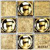 B-22-12 300x300MM solar river rock mosaic tile glass stake light