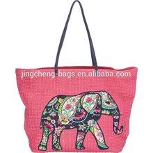 Manufacturer supply women straw beach bag