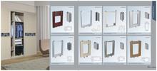 Super workmanship acrylic bedroom sliding door