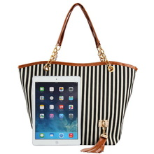 HOT!!! stripe canvas beach tote bag wholesale
