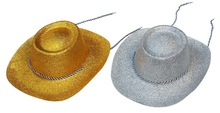 2014 Promotional Big PVC Hat With Glitter For Party