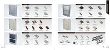 New model durable sliding glass aluminum mosquito net door