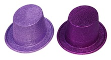 Most Popular Beauty Glitter PVC Top Hat For Party