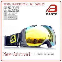2014 year's anti-fog , anti-uv ski goggles,ski eyewear with custom straps