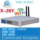 Highest cost effective!!!X-26Y,Intel C1037U htpc,fanless computer networking,support surveillance system