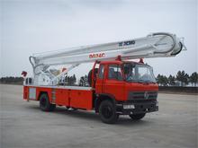 High platform fire truck