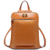 Hot sale genuine leather backpack fashion design girls backpacks EMG3500