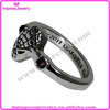 IJDB0012 Gun metal plated stainless steel spiderman rings
