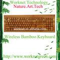 çevre dostu japon laptop klavye 108 tuşları doğal bambu kablosuz klavye