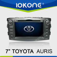 7'' in dash touch screen double din car radio for toyota auris with gps bt pip ipod dtv rear view camera