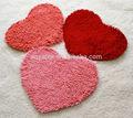 tapetes shaggy do poliéster chenille cor de rosa fabricante na china