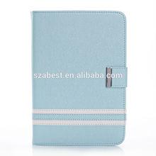 New Arrival Contrast Color PU Leather Cover For iPad Mini 2,Fashionable Design Leather Case For Apple iPad Mini 2