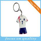 China foot ball shirt shape custom metal souvenir key chain