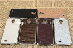 diamond grain stick silver bumper hard case cover for Samsung Galaxy s4 i9500 SIV