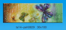 Best seller canvas oil painting, oil painting on canvas, butterfly design canvas oil painting