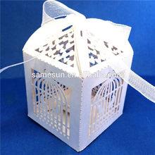 Laser cut favor boxes wedding bridal party bomboniere favours -white birdcage