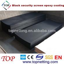0.9mm black security screen epoxy coating