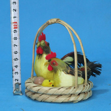 animal model Adornment simulation Gorgeous The hen in the basket