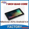 Tablet Pc Price China Android 4.4 Allwinner A31s Quad core Bluetooth 7inch
