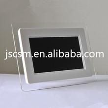 HD! 7 digital photo acrylic frame HD video/music/photo made in china