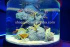 round fish tank, aquarium