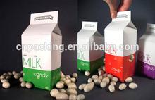 Dongguan cheap bottle milk paper packaging for birthday parties