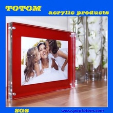 POP acrylic picture frame holder stand display/acrylic frames/acrylic