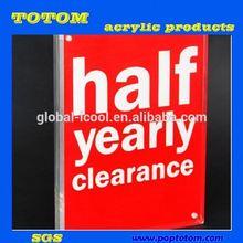 POP acrylic clear long picture frames/acrylic frames/acrylic