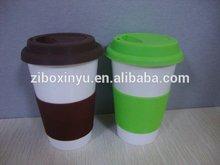 ZIBO XINYU XY-0816 Ceramic Coffee Mug with Silicone Cover and Band