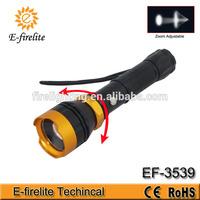 Multifunctional rechargeable LED flashlight, U043 zoom focus lumen led flashlight