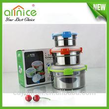 New Sale stainless steel airtight food container/food fresh box/airtight food jar
