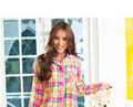 Mode printemps et l'automne à tricoter femelle, pyjama en coton de haute qualité féminine's pyjama. ensembles. grille. à manches longues