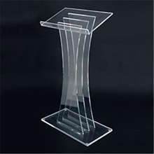 Acrylic Lectern Podium Pulpit M shape with Assembly Required KD package
