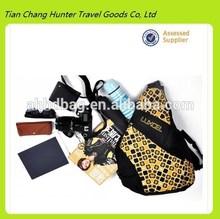 2014 waterproof 600D polyester hiking triangle sling backpack bag for men