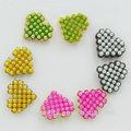 Multicolor 2014 fantaisie. heart stud boucle d'oreille de perles